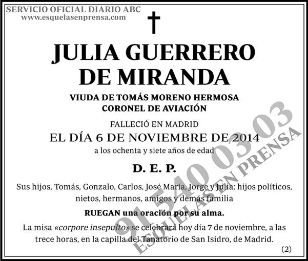 Julia Guerrero de Miranda